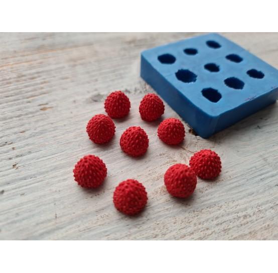Silicone mold, strawberries, small, 9 pcs., ~ H 0.9 cm, ~ Ø 1 cm