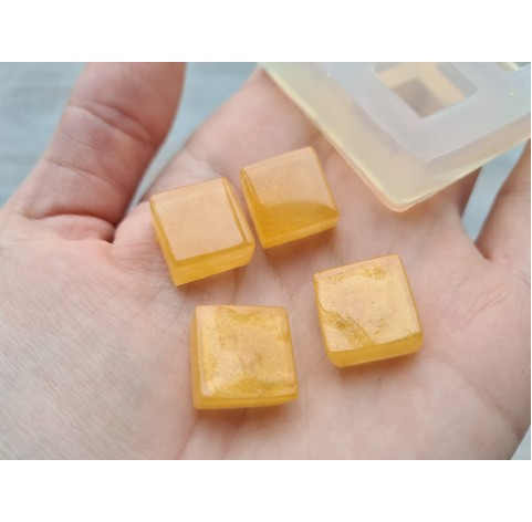 Silicone molds for epoxy, squares, 4 pcs., ~ 1.4 cm