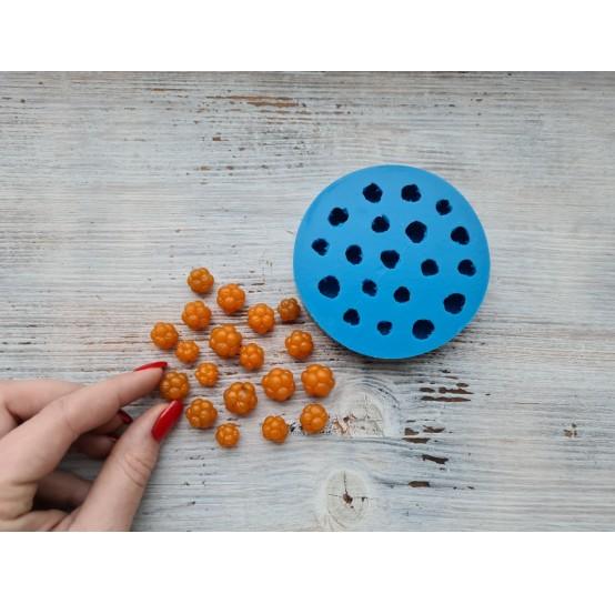 Silicone mold cloudberries, 19 pcs., ~ Ø 0.9-1.6 cm