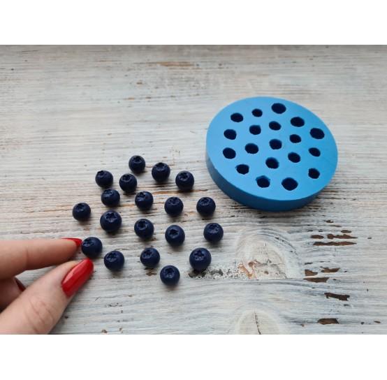 Silicone mold handmade blueberry, small, 19 pcs., ~ Ø 1 cm