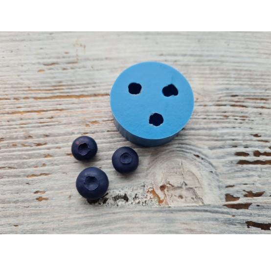 Silicone mold, blueberry, 3 pcs., ~ Ø 1.2-1.5 cm