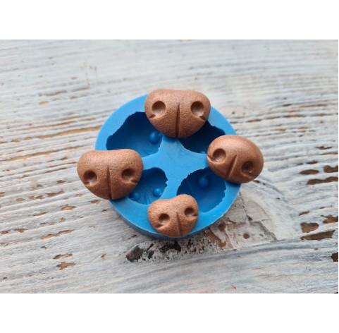 Silicone mold, bear's nose, version 2, 4 pcs., 2.2 *1.5 cm, 2*1.5 cm, 1.8*1.5 cm, 1.5*1.2 cm