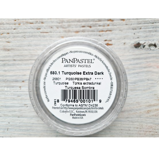 PanPastel soft pastel, Nr. 580.1, Turquoise Extra Dark