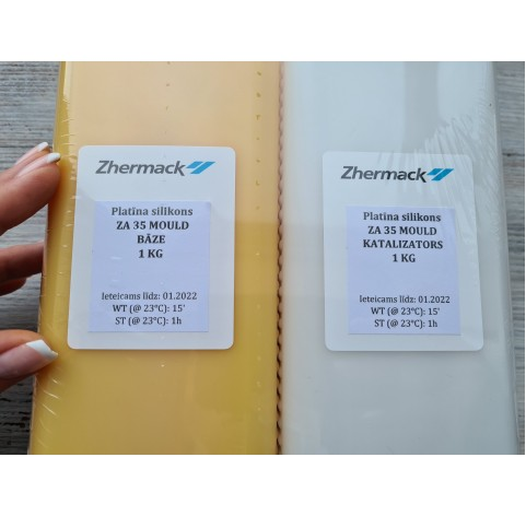 Silicone on platinum catalyst, Zhermack ZA 35 MOULD, yellow, 2 kg