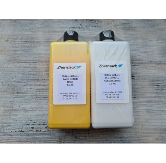 Silicone on platinum catalyst, Zhermack ZA 35 MOULD, yellow, 1 kg