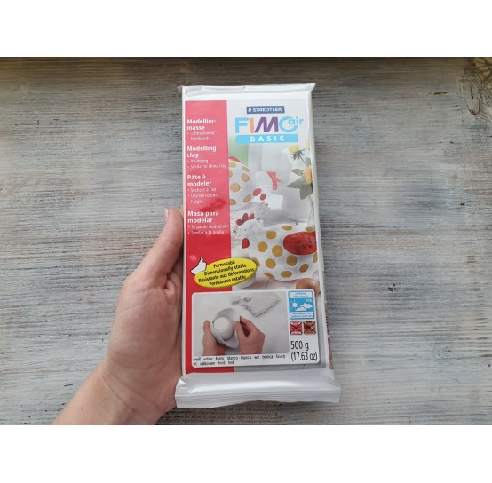 Fimo Air Basic modelling clay, white, 500 g