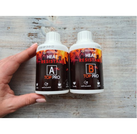 "Epoxy resin ""Top Pro Heat"", transparent, 450 g"