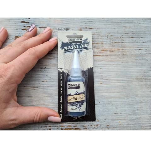 PENTART alcohol-based ink, black, 20 ml, No. 21048