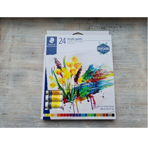 "Staedtler acrylic paint ""Design Journey"" set, 24*12 ml"