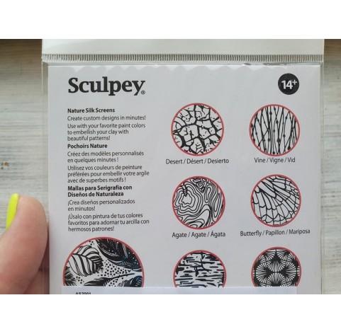 Silk Screen Sculpey, 2 sheets, Nature