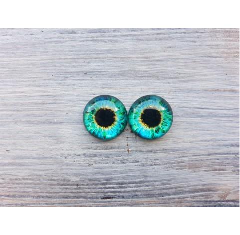 Glass eyes Green 4, ~ Ø 1.4 cm