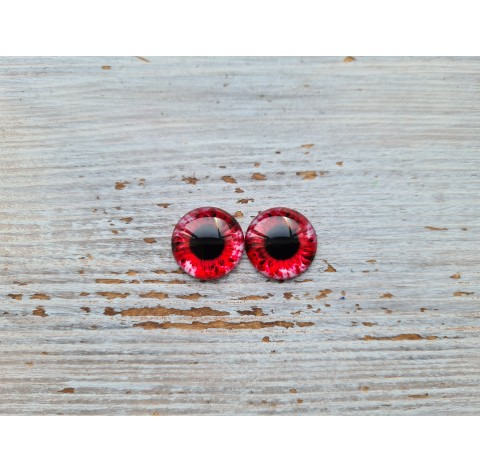 Glass eyes Red 1, ~ Ø 1.2 cm