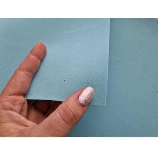 Foamiran sheet, foam rubber, Azzuro Baby 2, 1 mm, 60*40 cm