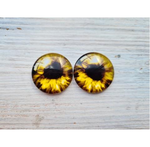 Glass eyes Yellow 5, ~2,5 cm