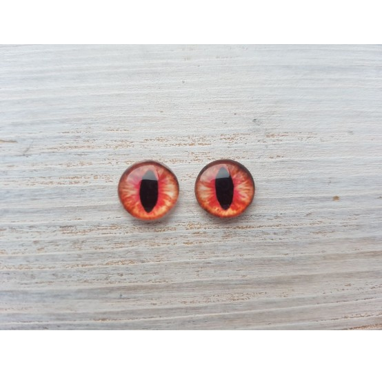 Glass eyes Red 1, ~ Ø 0.6 cm