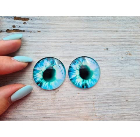 Glass eyes Blue 3, ~ Ø 3 cm