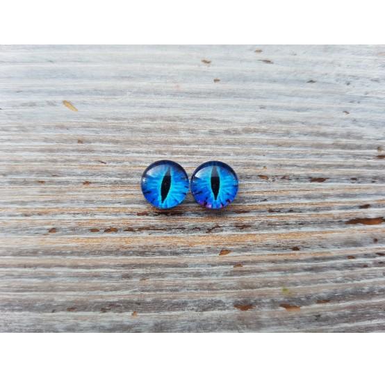 Glass eyes Blue 1, ~ Ø 0.8 cm