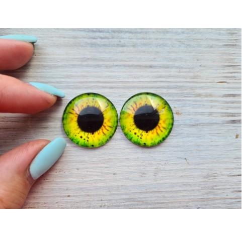 Glass eyes Yellow 4, ~2,5 cm