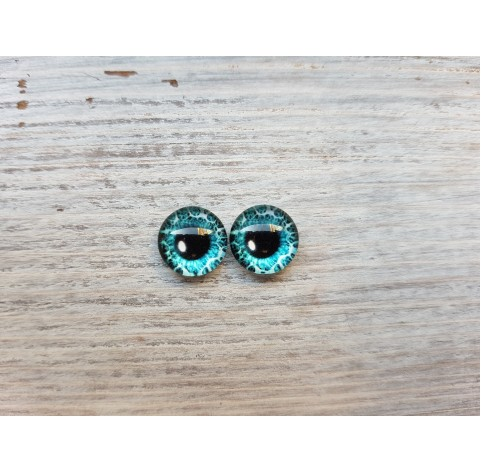 Glass eyes Blue 12, ~ Ø 1 cm