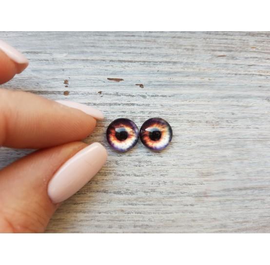 Glass eyes Brown 3, ~ Ø 1 cm