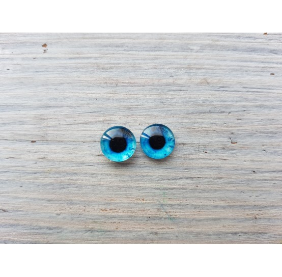 Glass eyes Blue 5, ~ Ø 0.8 cm