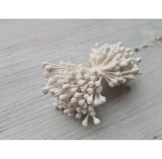 Stamens, white, lilac, large bundle, 2 mm