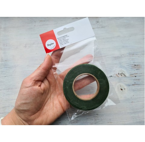 Floral tape, Rayher, dark green, 13 mm*27.5 m