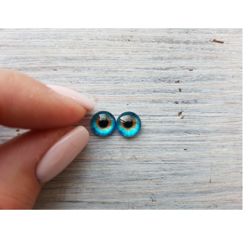 Glass eyes Blue 4, ~ Ø 0.8 cm