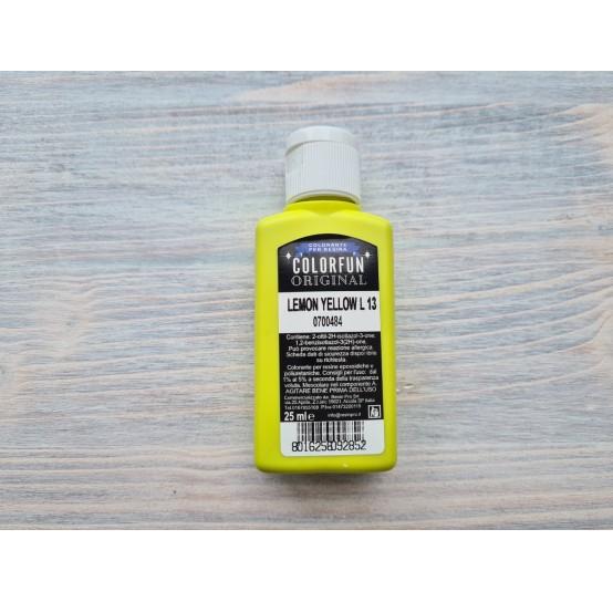 Dye for epoxy resins Colorfun Original, lemon yellow, 25 ml