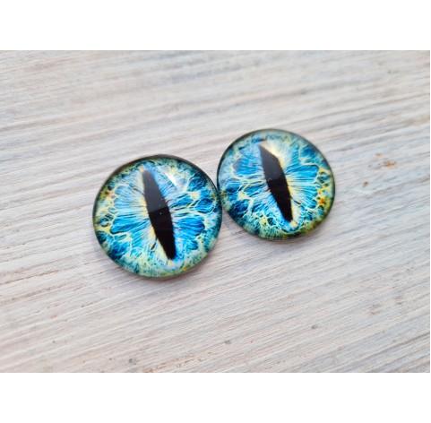Glass eyes Blue 2, ~2,5 cm