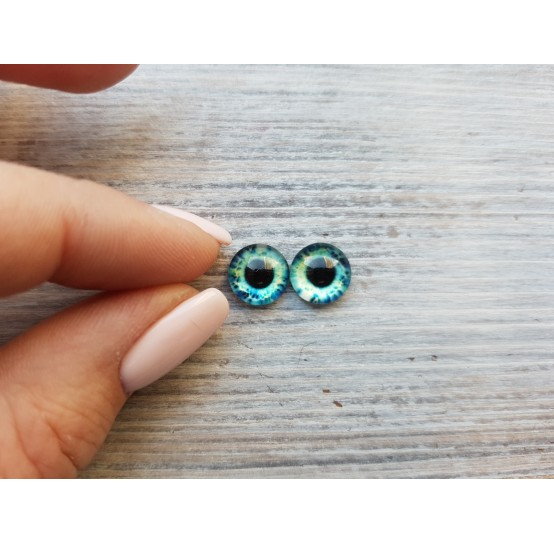 Glass eyes Green 5, ~ Ø 1 cm