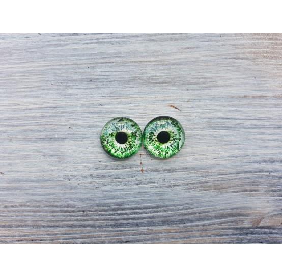 Glass eyes Green 2, ~ Ø 1.6 cm