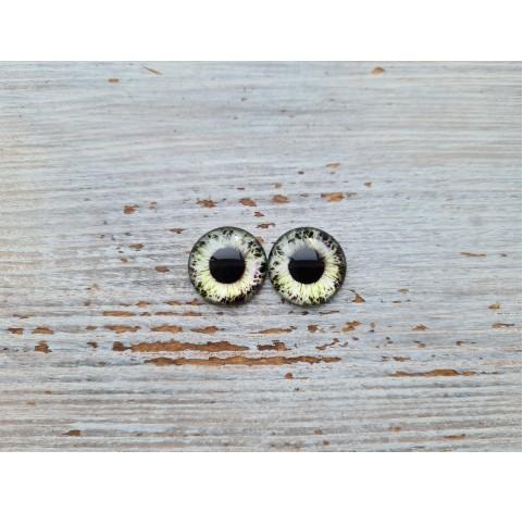 Glass eyes Green 3, ~ Ø 1.2 cm